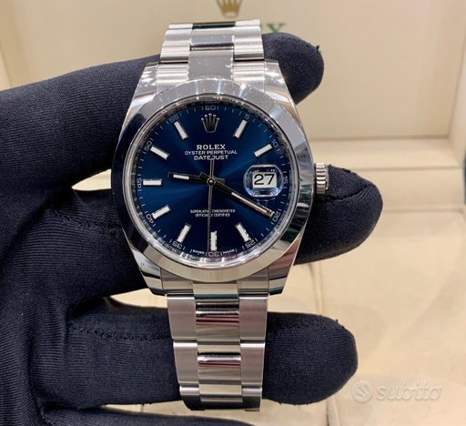 Rolex Datejust 126300 Oyster 2019 Blue Dial