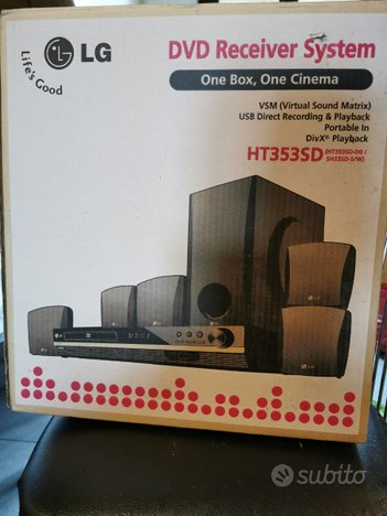 Home theatre LG Dolby sorround, DVDreceiver system
