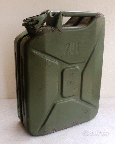 Tanica acciaio fawi 20 litri vintage (1980)