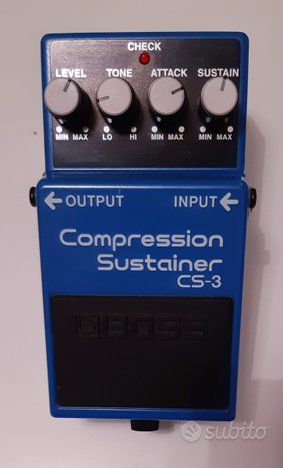 BOSS CS-3 COMPRESSOR SUSTAINER Pari Al Nuovo