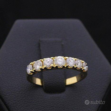 Anello veretta in oro 18kt brillanti 0.85 ct