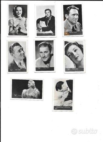 Cartoline piccole di attori del 1900