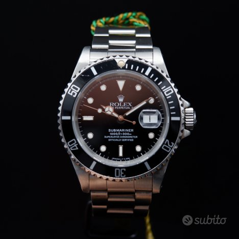 Rolex submariner data 16610 oyster anno 1989