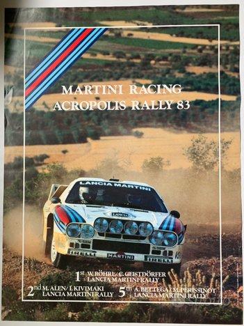 Lancia 037 poster originale Martini Racing Rally