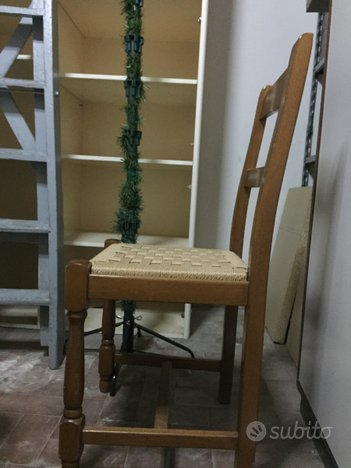 Due sedie legno vero
