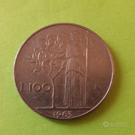 100 Lire Minerva 1° tipo 1963 - Rep. Italiana