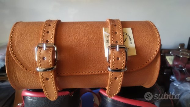 Borsa moto barilotto arancio portaattrezzi harley