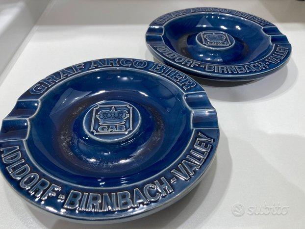 2 Posacenere in ceramica smaltata Graf Arco Bier