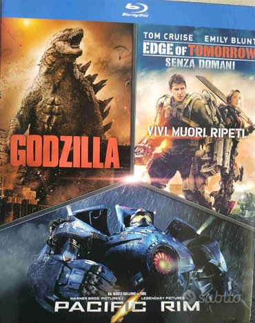 Box 3 Film in Blu Ray Godzilla/Pacific Rim/Edge of