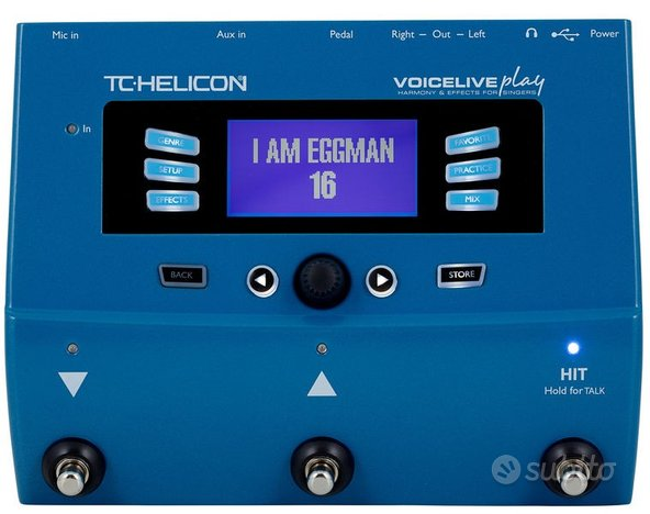 EFFETTO VOCE Tc-Helicon VoiceLive Play