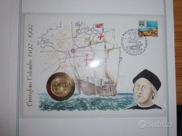 Busta-Moneta di Colombo