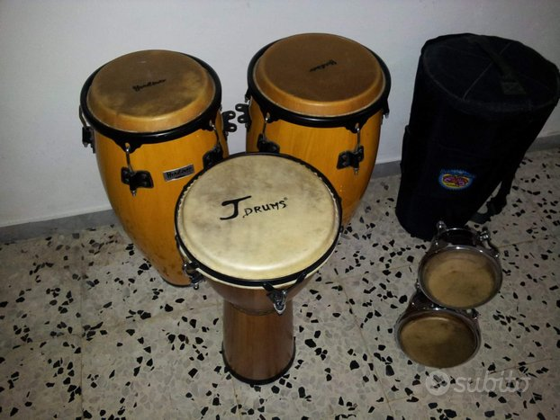 Congas, djembée e bongos