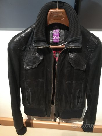 Giacca originale vintage in pelle Datch