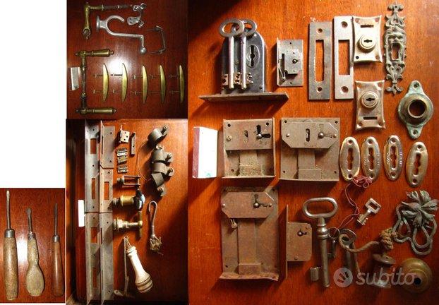 Serrature, maniglie, rubinetti antichi (usati)