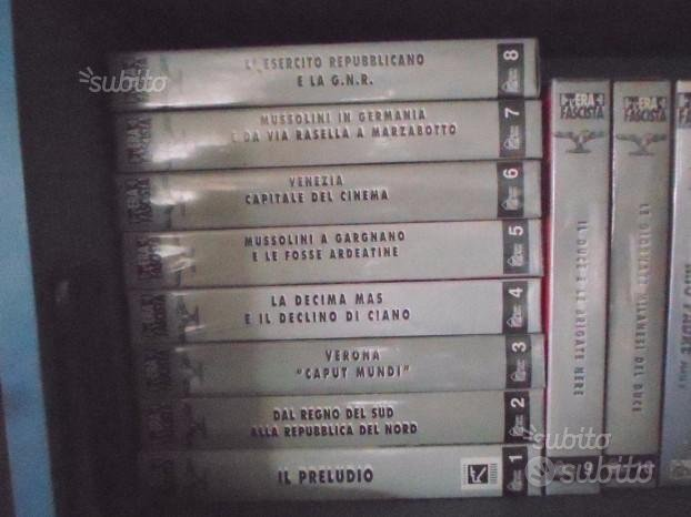 Vhs era fascista,sono 10 video cassette