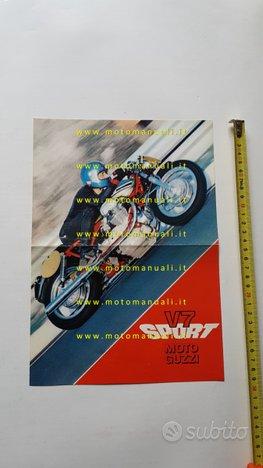 Moto Guzzi V7 Sport 750 1972 depliant INGLESE