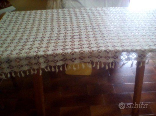 Copriletto Singolo In Cotone Bianco Alluncinetto Arredamento E