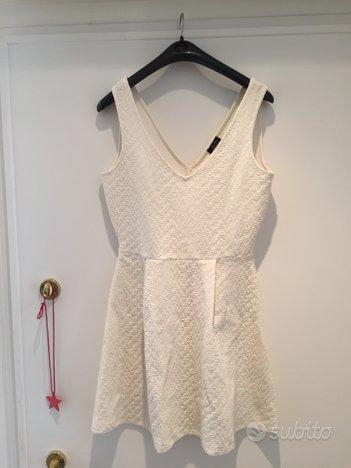 Vestito bianco Zara taglia M