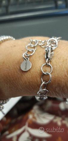 Bracciale argento Rosato con 4 charms