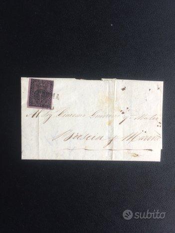 Francobollo Parma 1852 25 cent. n.4 violetto