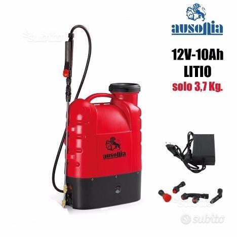 Pompa a spalla 16 litri ausonia batteria 12v litio