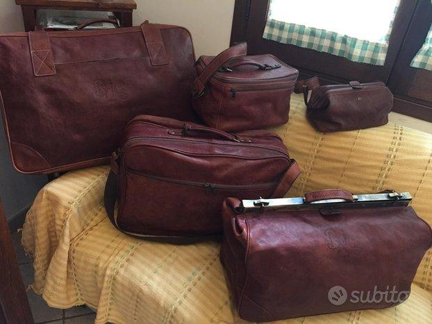 Set 5 valigie BRIC'S Milano in vera pelle NUOVE
