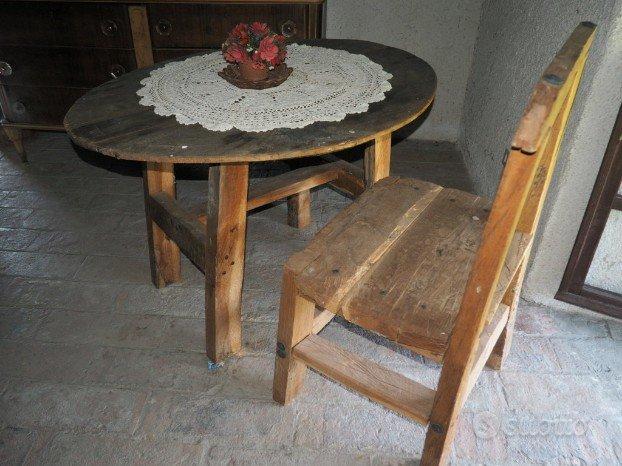 Tavolo scrivania piano ovale legno grezzo - Arredamento e Casalinghi ...