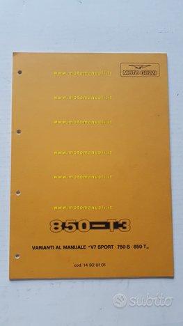 Moto Guzzi 850 T3 var.manuale officina V7 Sport