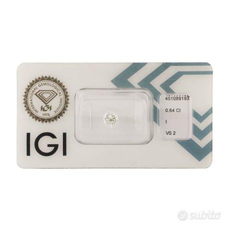 Diamante certificato IGI 0,64 ct