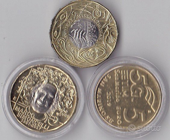 3 monete san marino 5 euro 2016 2017 2019 commemor