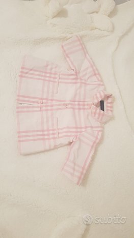 Trench burberry bambina baby cappotto
