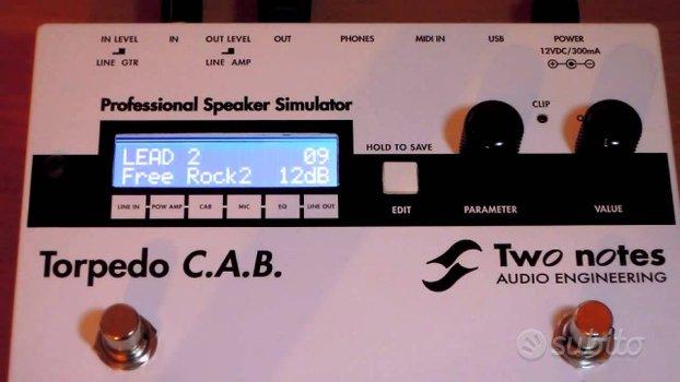 Torpedo CAB - simulatore di cassa chitarra/basso