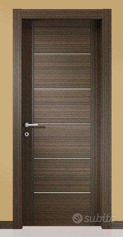 Porta interna listellare colore laminato ebano