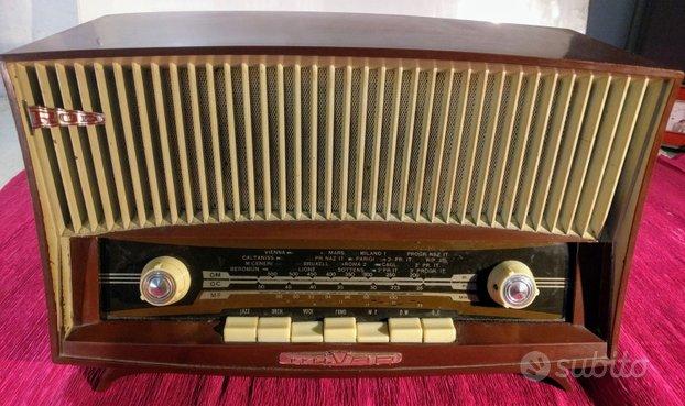 Radio d'epoca a valvole MIVAR UCM 581 FUNZIONANTE