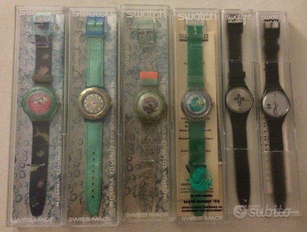Swatch vintage da collezione 89-91-92-94