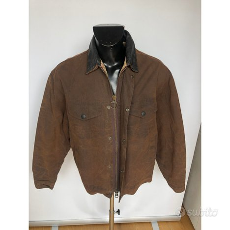 Giacca corta Uomo Barbour Drover marrone Tg. Large