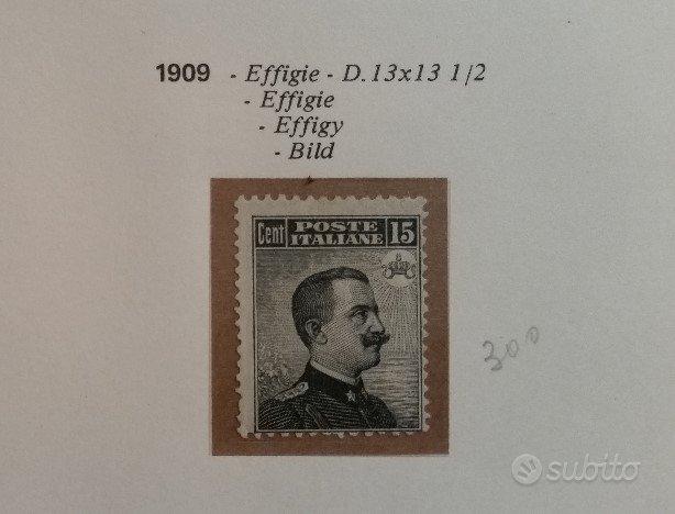 Regno 1909 - Michetti nero II tipo