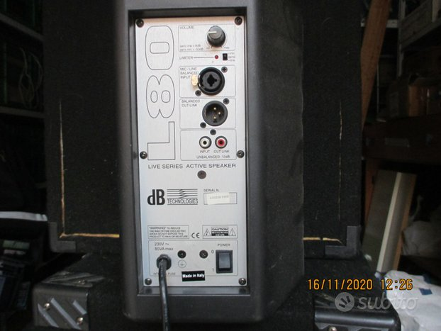 Db Cassa amplificata L80Technologie