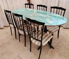 Tavolo da pranzo in stile liberty