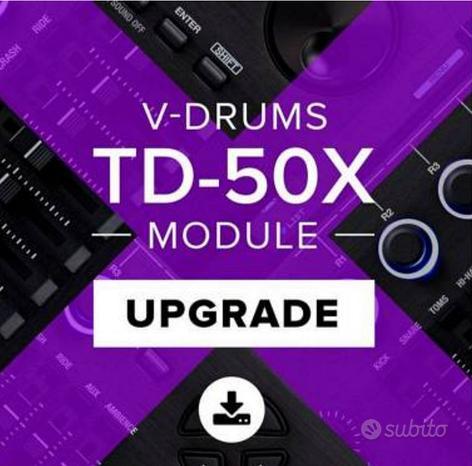 Aggiornamento modulo Roland td50 al td50x