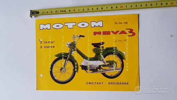 Motom 50 Nova 3 1966 depliant originale ciclomotor