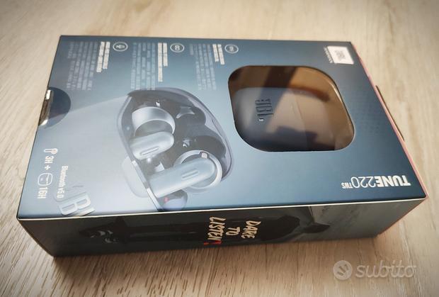 Cuffiette auricolari wireless JBL Tune 220TWS blu