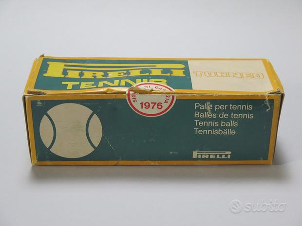 1976 confezione 3 palline tennis pirelli