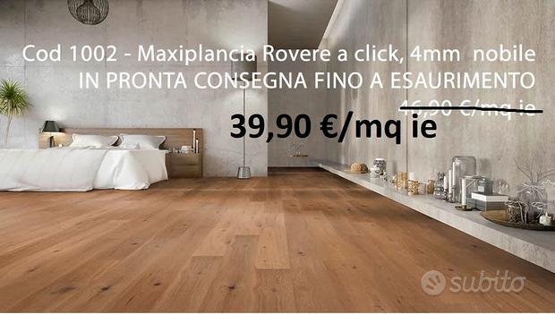Stock Parquet Rovere Maxiplancia con 4mm di nobile