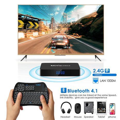 Tv box mxq pro 8k android 10 4/32gb dual