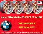 4 Cerchi BMW/Opel Minilite 7x13 4x100 ET-7 TUV