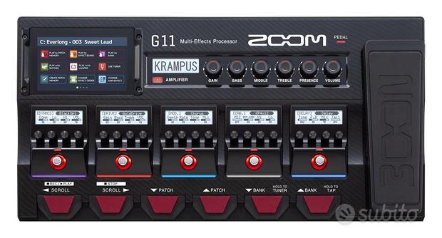 Zoom G11 - pedaliera multieffetto, amp-simulator,