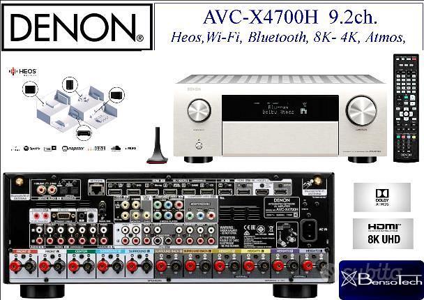 Denon AVC X4700H amplificatore 9.2ch. 8K, NUOVO!