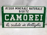 Insegna smaltata Camorei Acqua Minerale Bibite