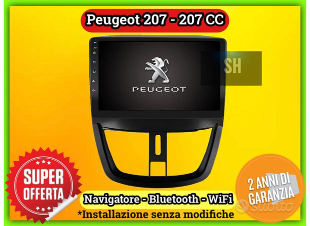Navigatore android wifi Bluetooth Peugeot 207